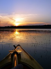 Sunset Kayaking on Okmulgee Lake