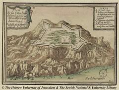 1706_montjuic-Plano de la ciudadela -Sebastian de Beaulieu 1706