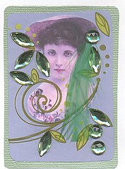 Ivey~ATC Traded to Quay Bell (Suzee Que) Tags: woman art atc collage artist victorian card trading