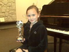 Miss L at recital