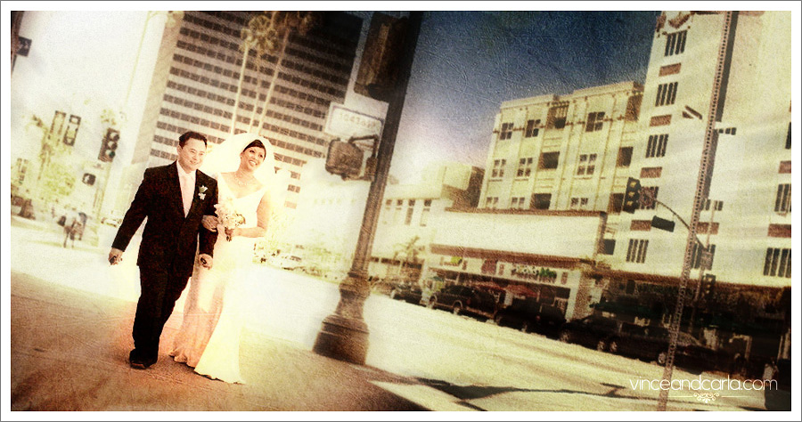 wedding urban setting city downtown photoshoot los angeles wilshire california