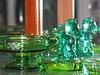 Green Heisey glass