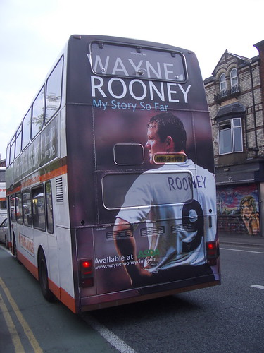 Wayne Rooney on the bus