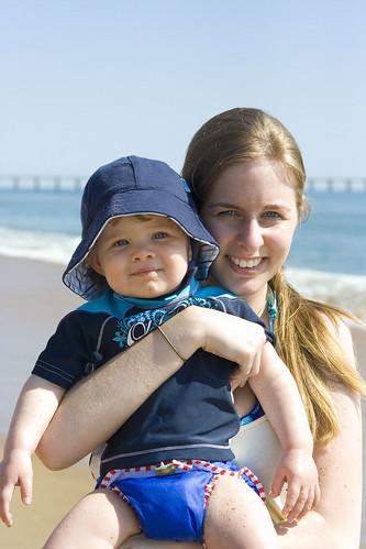 Mommy and Ian on Beach