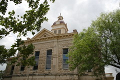bandera county courthouse through the trees