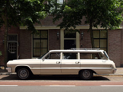 Land barge (Martin van Duijn) Tags: auto old classic chevrolet car wagon automobile 64 spotted collectible impala 1964 stationwagon