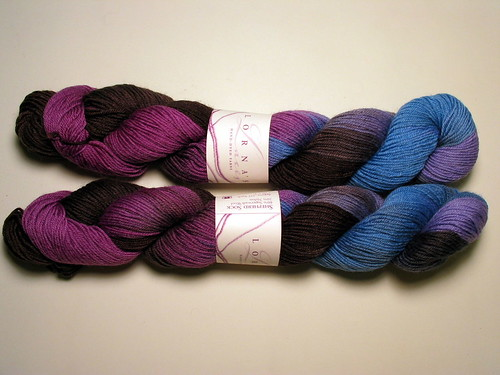 Lorna's Laces June 2008 - Blueberry Snowcone