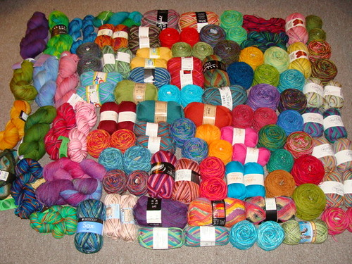 The State of the Sock Yarn Stash