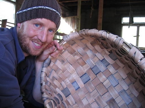 Pleased basket weaver