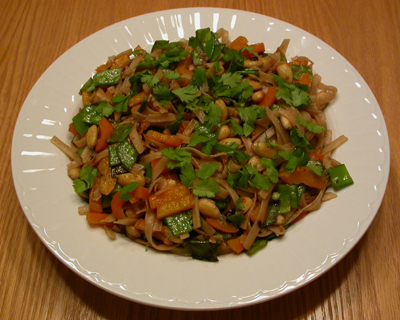 Almond, Snow Pea & Sweet Pepper Noodle Salad