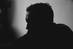 177/366 Poet (Janey Kay) Tags: life portrait people blackandwhite silhouette person leute candid poet 2008 personnes personne leben vita gens vie mensch nikkor18200mmvr nikkor18200mmf3556vr janeykay