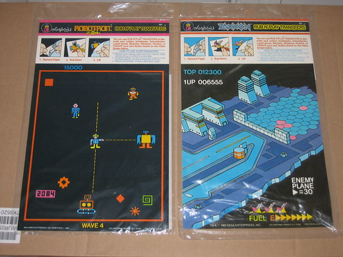 Robotron and Zaxxon Transfers
