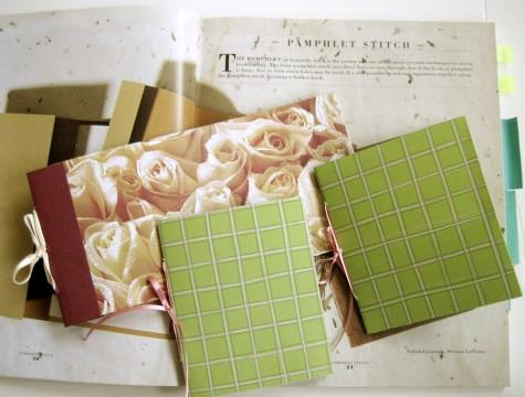 Sample pamphlet stitch books