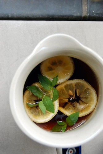 Sage and Lemon Iced Tea