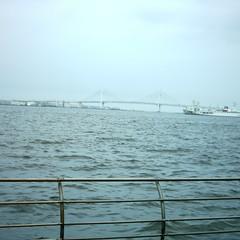 【写真】ミニデジで撮影した臨港パークから見るベイブリッジ