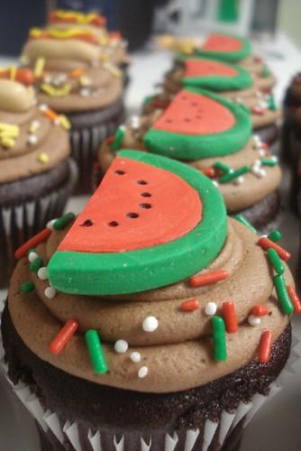 BBQ Picnic Cupcakes- Watermelon