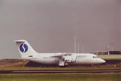 BAe 146-RJ85  Sabena  OO-DJQ (Den Batter) Tags: minoltax700 spl schiphol bae146 sabena 146 eham oodjq bae146rj85 01l19r 18c36c