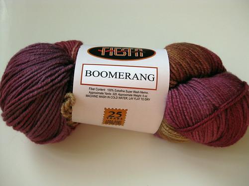 Fiesta Boomerang- Rhubarb