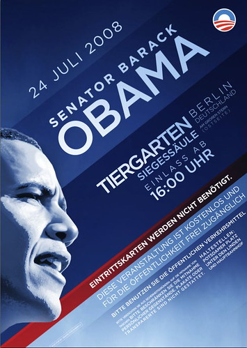 Poster for Obama rally in Berlin