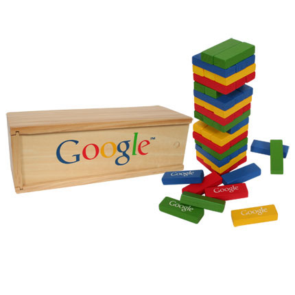 Google wooden block tower game