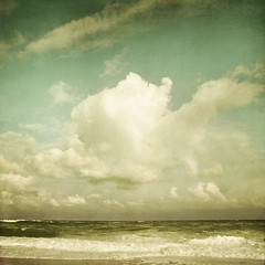 Why don't clouds fall out of the sky? (IrenaS) Tags: ocean sea sky seascape france beach clouds landscape leslandes aquitaine wwwirenesuchockicom