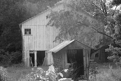 Abandoned and still loved (jeepinpixie) Tags: old green abandoned beautiful barn decay farm corncrib