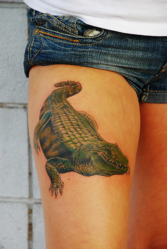 Alligator Tattoo 3D