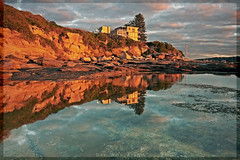 Golden Beach House (l plater) Tags: seascape reflection water clouds sunrise landscape dawn rocks sydney australia soe hdr northernbeaches deewhybeach almostanything diamondclassphotographer flickrdiamond flickrelite lplater unlimitedphotos multimegashot