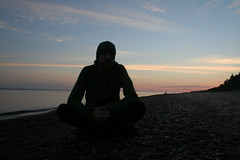 Early Dawn Self (Godzuki) Tags: camping sky beach water sunrise nationalpark lakesuperior upperpenninsula picturedrocks algercounty 12milebeach