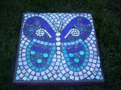 Mosaic Garden Art · Butterfly Stepping Stone