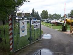 Eingang Flugplatzmuseum Cottbus