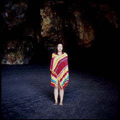 La Cueva (david_fisher) Tags: portrait espaa black slr art 120 6x6 film beach girl rock dark spain sand girlfriend fuji arte natural retrato contemporary asturias playa towel arena sp bronica medium format cave 2008 fujichrome sq negra medio roca fortia reserva cueva contemporaneo formato nieves fortiasp toalla asturies davidfisher sqai zenza barayo zenzanon principadodeasturias zenzanonps80mmf28