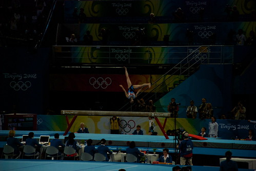 In the morning, we watched the Finals of the Womens Individual Gymnastics competition.