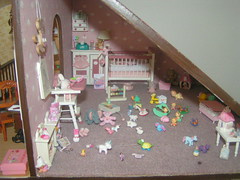 dollhouse baby playing room nursery (fairyina3) Tags: pink baby cute girl toy toys miniature doll handmade room nursery mini tiny kawaii rement dollhouse