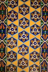 Ornamental Tilework at the Blue Mosque (From Afghanistan With Love) Tags: world travel afghanistan art digital canon tile eos rebel artwork kiss shrine decorative muslim culture mosque ornamental 2008 islamic mazaresharif zeerak xti safrang hamesha javaid