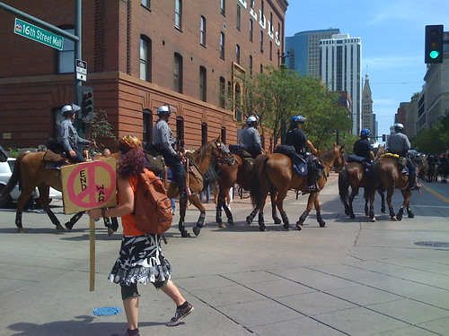 Police on Horses at tHE DNC3