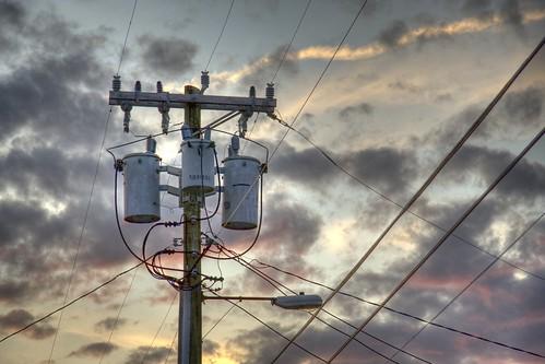Telephone Lines Sunset