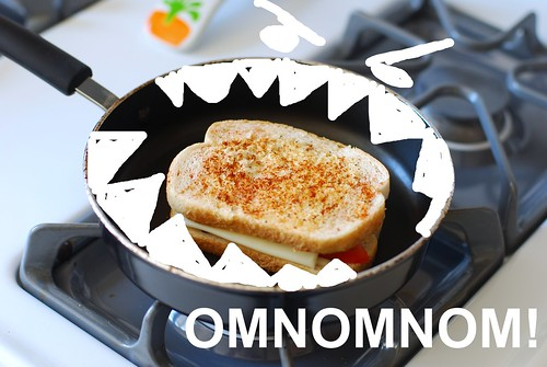Omnom and cheese.