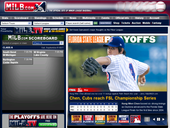 MiLB Official Web Site