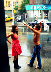 "More of pink: "" Fun under the rain"" (Sion Fullana) Tags: pink newyork rain rainyday streetphotography characters playful soe allrightsreserved beautifulgirl pinkdress wetfloor outdoorlife playingintherain greenwichavenue shirtlessguy atouchofpink bej girlinboots diamondclassphotographer flickrdiamond womeninpink sionfullana beautifulgirlplaying beautifulgirlinpinkdress guyplaying sionfullanaphotography fotografasdesionfullana sionfullana"