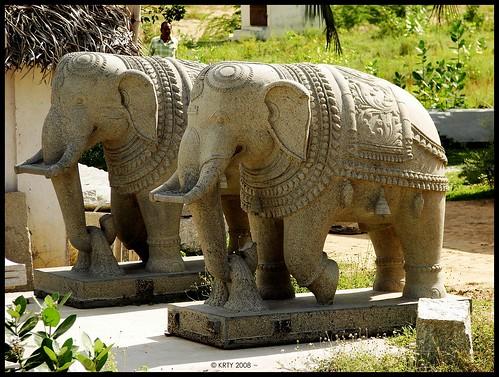 Manimandapam - Stone Elephants