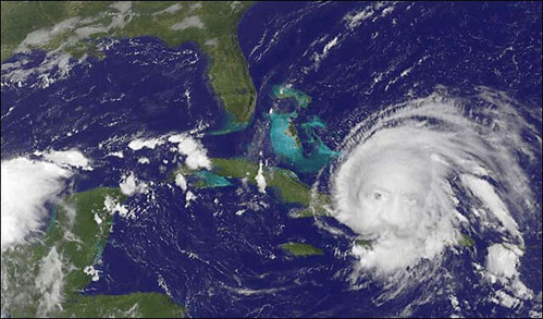 So I photoshop'd a couple of web images to make Hurricane Ike Turner .