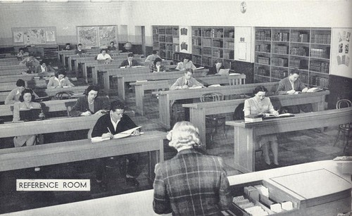 San Jose State Wahlquist / Library North (1942-2000) by san jose library (flickr)