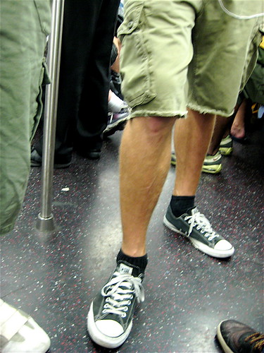 Converse All Stars on the New York Subway