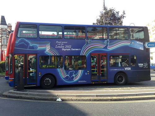 Olympics London 2012 Visa sponsored bus - side
