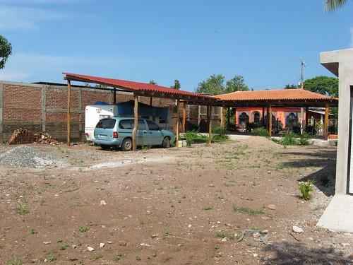 Ramada, trailer and palapa
