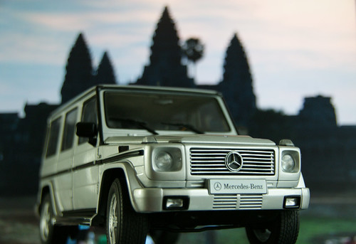 Mercedes-Benz G500 at Angkor Wat
