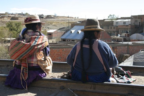 Villazon street scene - southern Bolivia.