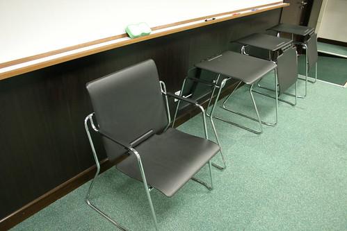 A 'transformer' desk/chair