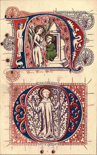 11- Siglo XIV- Iniciales llamativas de libros del South Kensington Museum